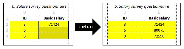 Excel fill-down diagram