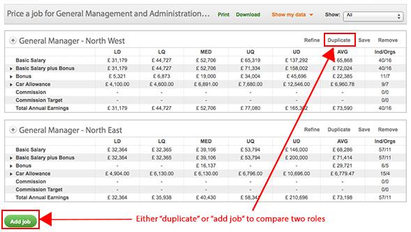 compare jobs